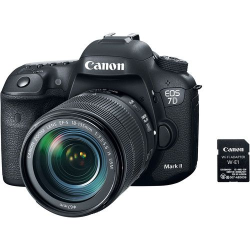 Canon EOS 7D Mark II DSLR Camera with 18-135mm f3.5-5.6 IS USM Lens & W-E1 Wi-Fi Adapter